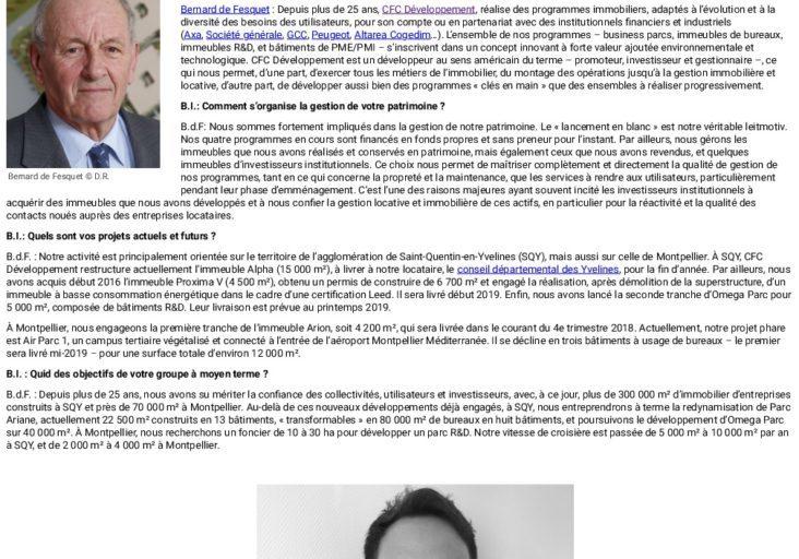 Le lancement en blanc est le leitmotiv de CFC Développement - Business Immo-thumbnail